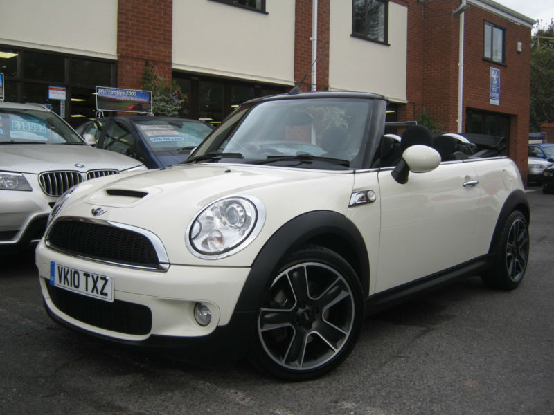 2010 10 Reg Mini Cooper S Chilli Convertible Great Spec Pepper White