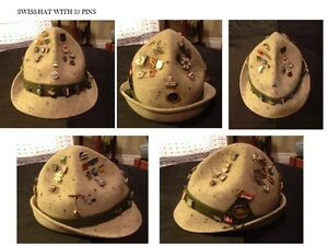 BAVARIAN HIKING HAT with 36 pins