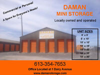 Secure and Safe Storage Facility in Napanee