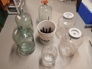 Beer Brewing Carboys and Equipment