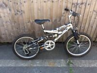 Magna rampage full suspension child's mountain bike