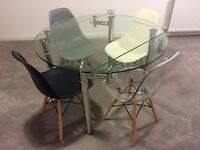 Glass top dining table. Excellent condition.