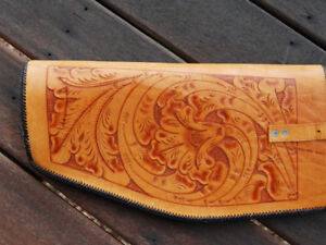 HAND-TOOLED LEATHER GUN CASE