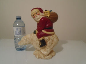 VINTAGE LEFEVER SANTA ON A POLAR BEAR
