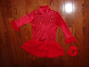 Size 5-7 youth lined FIGURE SKATING DRESS