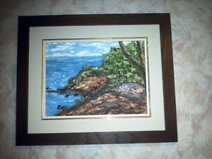 Original Oil Painting of the Mediterranean in Cypress