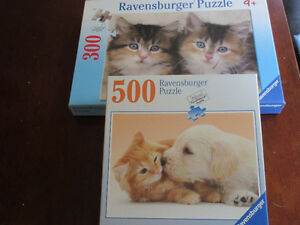 2 Ravensburger Puzzles - Kittens and Puppies  Adorable