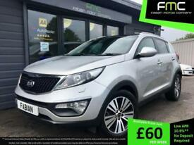 2014 Kia Sportage 3 1.7CRDi ( 114bhp ) ISG **Pan Roof - Heated Leather**