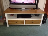 Shabby chic oak tv stand
