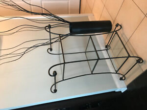 Glass/Metal side table/stand
