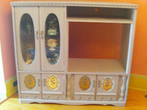vintage entertainment/display CABINET for sale