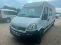 Vauxhall Movano LWB High Roof Crew Van Only 80,000 Miles, Direct Council.