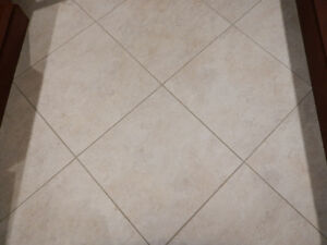 "Ceramic look vinyl floor tiles - 18"" X 18"""