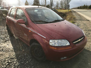 2004 CHEVY AVEO 4DOOR HATCHBACK 075000 kms  2500$@902-293-6969