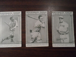 1948 Exhibits Hall of Fame Vintage Baseball Cards