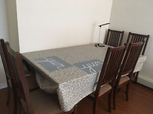 Dining Table and 6 chairs for sale (for pickup)