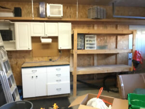 Garage cabinets and shelving