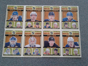 8 cartes o pee chee 2012 2103  league leaders