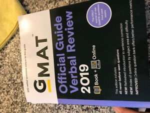 GMAT official guide & verbal review for sale