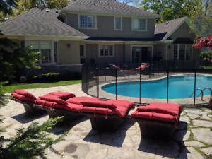 Removable Swimming pool fence Belleville : Child Safe Pool fence