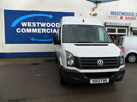 VOLKSWAGEN CRAFTER CR35 MWB 2.0TDi 109PS BLUEMOTION 6SPD TECH H/ROOF WHITE 13REG