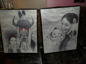 NATIVE ART, AMY FRANKS PRINTS 16 X 20 INCHES $50 EACH. Prince George British Columbia image 1