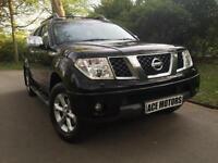 2009 Nissan Navara 2.5d Aventura NOVAT,CANOPY,4CREW CAB,SATNAV,LEATHER SEATS,FSH