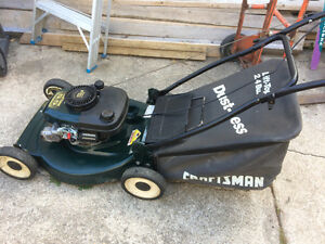 Craftsman  muching lawnmower with bag