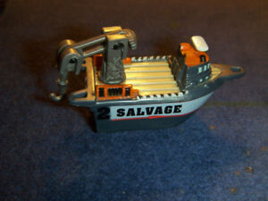 "SALVAGE SHIP-LGT1 MICRO MACHINE-1995-2 1/2""-PLASTIC TOY-VINTAGE!"