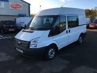 Ford Transit 2.2 TDCi 280 M Medium Roof Double-Cab-in-Van 3dr (EU5, MWB) (white) 2013