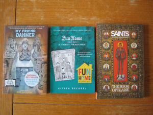 3 graphic novels for adults: Dahmer, Saints, Fun Home