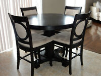 NEW PRICE! Espresso Dining table, 4 chairs + Server!