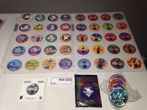 Sort # : 956 - 40 Pogs- Coca Cola Coke- Set Complet