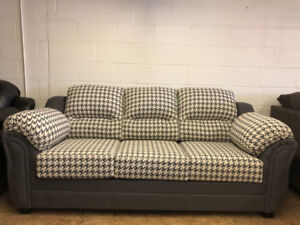 GREY TWO TONE- 2 BRAND NEW CANADIAN MADE COUCHES