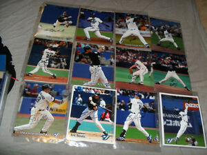 Signed Blue Jays 8 by10 Baseball Picture Photo + Jays Bobblehead