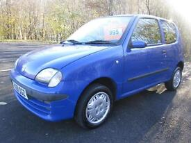 01/51 FIAT SEICENTO 1.1 SX IN BLUE ONE OWNER FROM NEW WITH ONLY 69,000 MILES