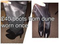 Dune ladies boots size 6 worn once
