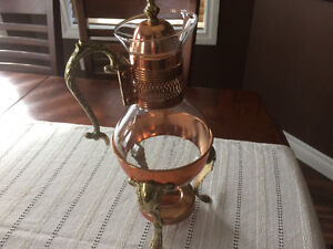 Vintage copper chafing set