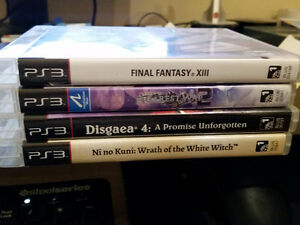 Various PS3 games for Sale - RPG's