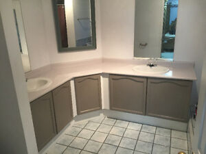 Countertops with 2 sinks