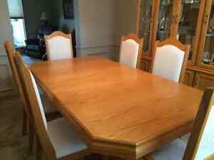 Dining Room Table and China Cabinet, sold separately or as a set