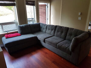 Brand New Grey Sectional with White Stitching