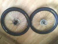 Shimano Deore M525 hub in mavic 317 rim for mountain bike