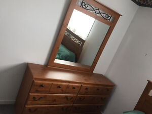Bedroom set includes mattress and boxspring