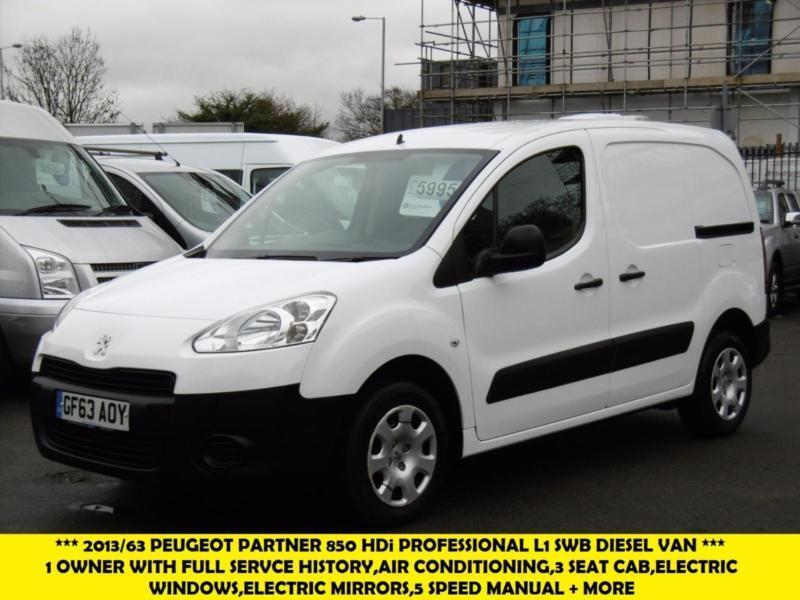 2013 PEUGEOT PARTNER HDI PROFESSIONAL L1 850 DIRECT FROM THE RSPCA WITH AIR COND