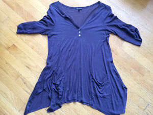 Anthropologie Ella Moss draped tops,M. Like New 2 for $30! Strathcona County Edmonton Area image 1