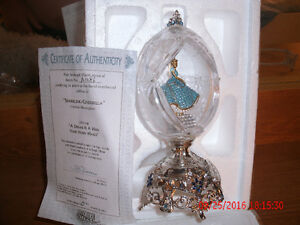 Cinderella Crystal Faberge Egg with Cert of Auth London Ontario image 1