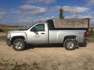 Chevrolet Silverado 2500HD with dump box