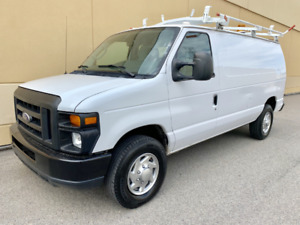 2010 FORD ECONOLINE E-350 CARGO VAN, ROOF RACK AND SHELVING !