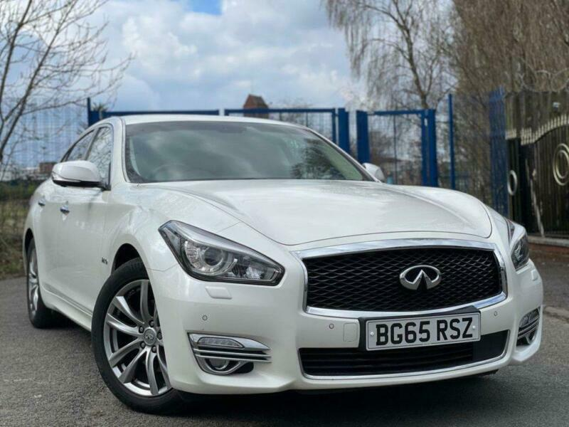 2015 65 INFINITI Q70 3.5 PREMIUM TECH HYBRID 4D 302 +2 KEYS+CAMERA+LEATHER+WHITE